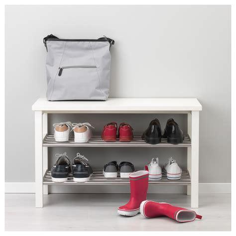 tjusig bench with shoe storage tjusig bench with shoe storage white 81x50 cm ikea