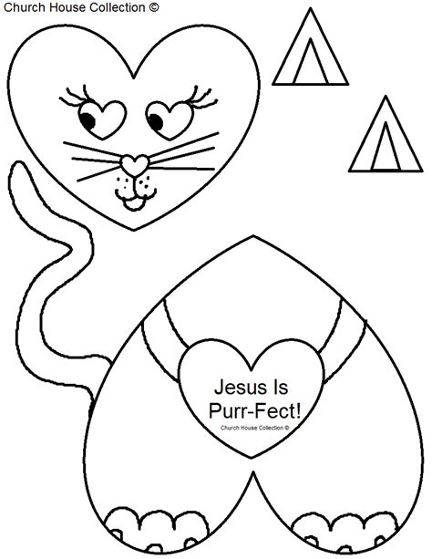 valentine coloring pages sunday school church house collection blog january 2014