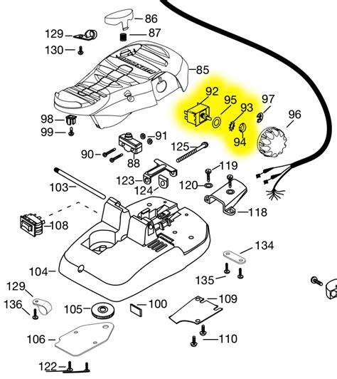 minn kota maxxum foot pedal parts diagram minn kota auto