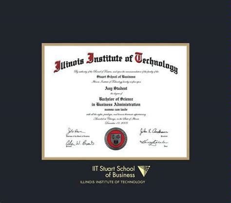Mba At Illinois Institute Of Technology Stuart School Of Business by Custom Diploma Frames Certificate Frames Framing