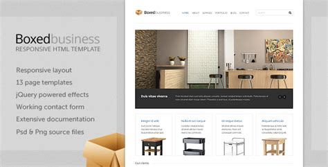 themeforest corporate template themeforest boxedbusiness responsive corporate html