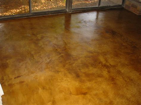 stamped and acid stain concrete resurfacing