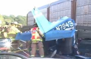 marine  flight student killed   york  plane crashes  freight train