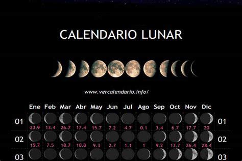 calendario lunar mes enero  mexico