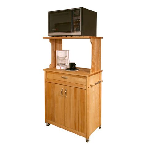 Kitchen Island Microwave Cart Kitchen Islands Deluxe Microwave Space Saver Cart Adjustable Shelf By Catskill