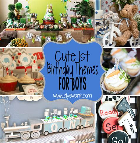 Cute Boy  Ee  St Ee    Ee  Birthday Ee   Party Themes