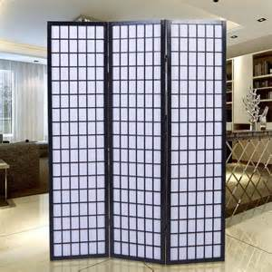 Japanese Room Divider Uk Shoji Folding Room Divider Screen 3 Panel Brown
