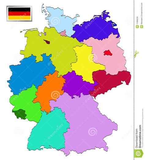 deutsche mappe karte deutschland stock abbildung illustration