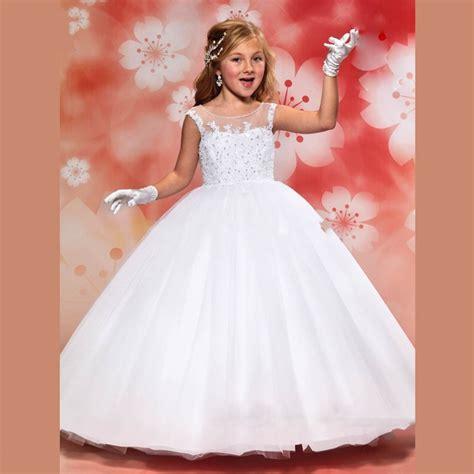 Sale Kyt Vendeta 2 White cheap sale white flower dresses for weddings 2016 lovely lace vestido de comunion