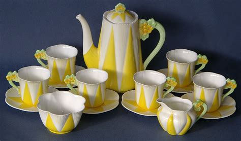 Coffee Set shelley pottery deco coffee set yellow