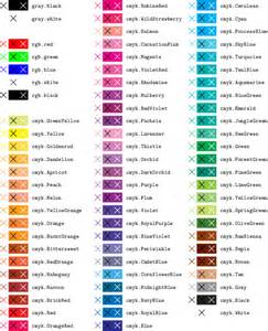 name of color appendix named colors pyx 0 14 1 manual