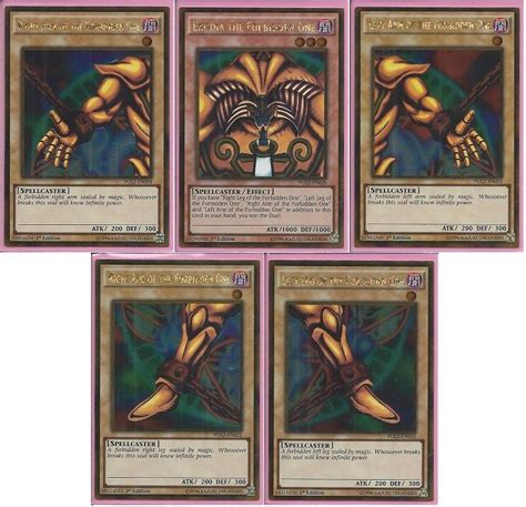 earthquake yugioh yu gi oh complete exodia the forbidden one 5 cards 1st