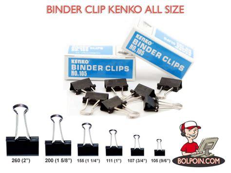 Kenko Binder Clip No 200 1 Lusin binder clip kenko no 105 penjepit kertas