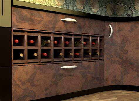 kitchen cabinet wine rack how to incorporate a wine rack under a kitchen counter 9