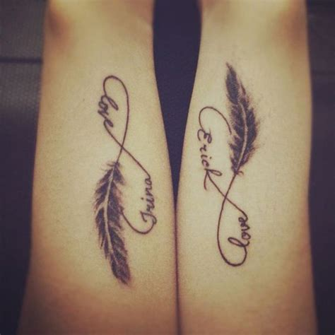 infinity love tattoo for couples 30 couple tattoo ideas