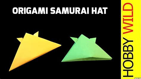 How To Make A Paper Samurai Helmet - how to make a paper samurai hat origami 3d gifts
