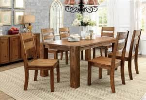 Solid Oak Kitchen Table Set Frontier Dining Table 6 Side Chairs Solid Wood 7pc Dining Set Oak Kitchen Ebay