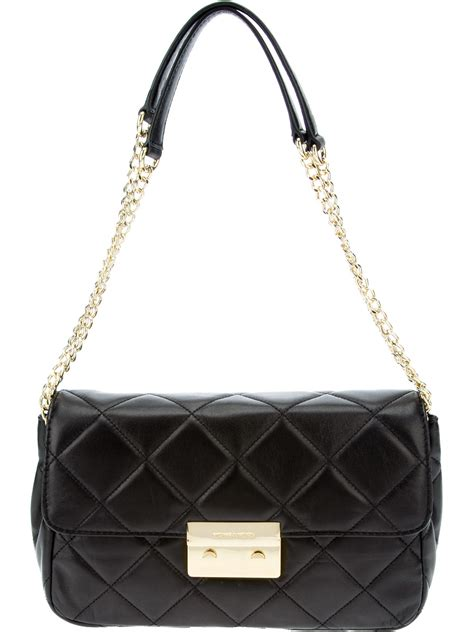 Chain Quilted Shoulder Bag michael michael kors quilted chain shoulder bag in black