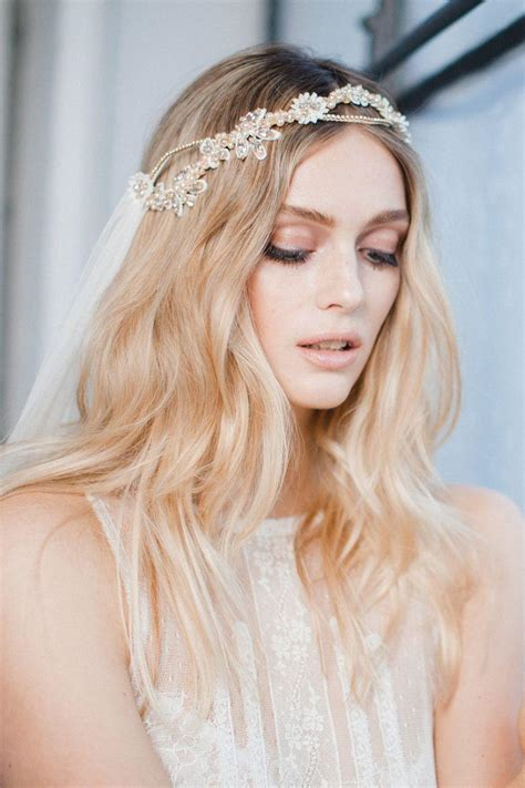 Wedding Hair With Veil And Headpiece by Ideas Unique Bridal Headpiece And Veil 2526889 Weddbook