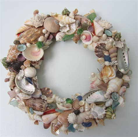 seashell wreath for decor nautical decor shell