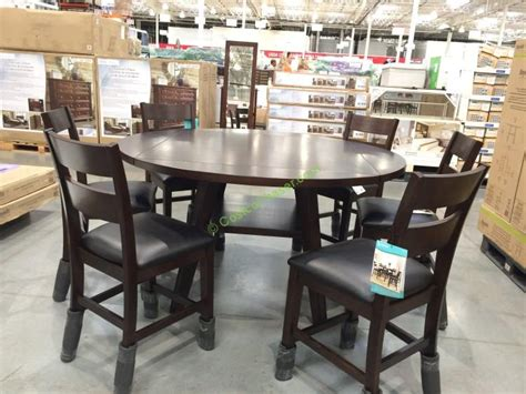 costco dining room set bayside furnishings 7pc square to dining set