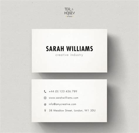 simple business card templates simple business card best 25 simple business cards ideas