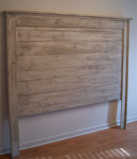 Distressed White Headboard headboard for bed shabby chic weathered white