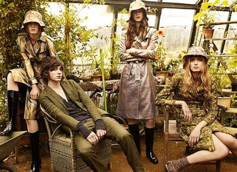 greenhouse fashion ads burberry spring  campaign shot