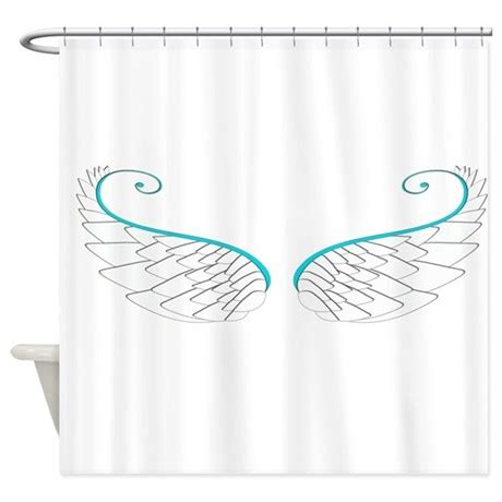 angel shower curtains angel wings png shower curtain by printedlittletreasures
