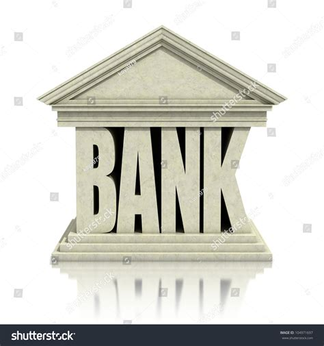 d bank banking bank 3d icon stock photo 104971697