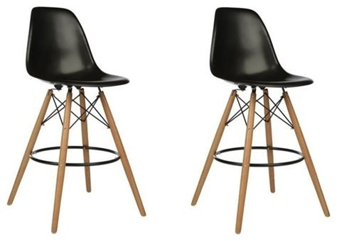 dsw black mid century modern plastic bar stool wood