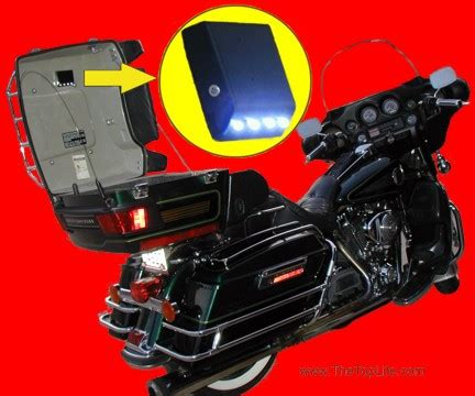 tour pack interior light 73 motorcycle trunks with lights diy led motorcycle
