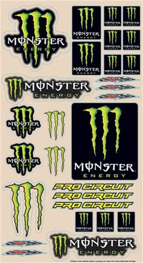 Monster Energy Aufkleber Gr N by Planche Stickers Pro Circuit Monster Energy Nsdeshmo
