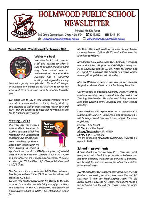 weekly newsletter a new year holmwood school term 1 week 2 by ccnnews issuu
