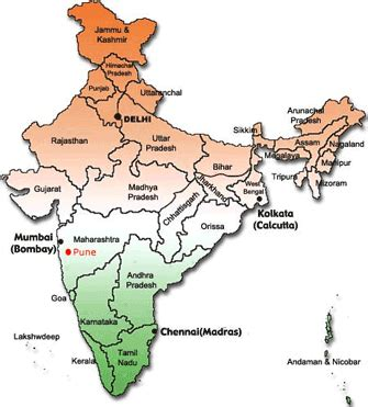 pune in map of india map india pune