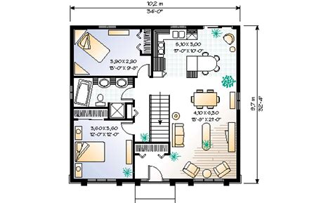 1100 Square Foot House Plans by Modern Style House Plan 2 Beds 1 00 Baths 1100 Sq Ft