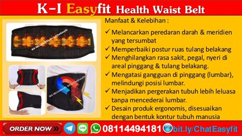 Ramuan Syaraf Terjepit Easyfit Waist Belt 1 wa 08114494181 k i easyfit health waist belt k link