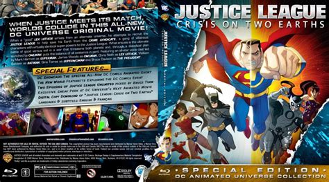 justice league crisis on two earths 2010 film online justice league crisis on two earths movie blu ray custom