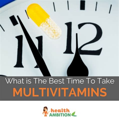 When Is The Best Time To Take A Detox Drink by What Is The Best Time To Take Multivitamin