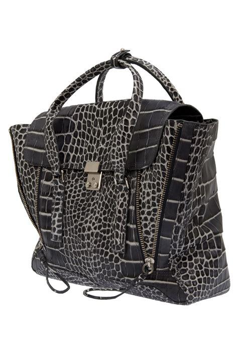 31 Phillip Lim Toni Carryall Tote by Lyst 3 1 Phillip Lim Pashli Croc Effect Tote Bag In Black