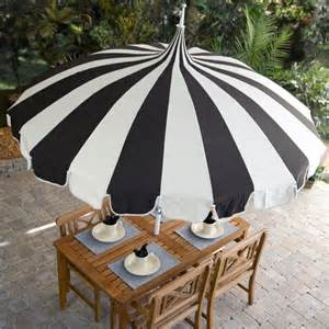 Black And White Striped Umbrella Patio Pagoda 8 1 2 Foot Patio Umbrella By California Umbrella Contemporary Outdoor Umbrellas By