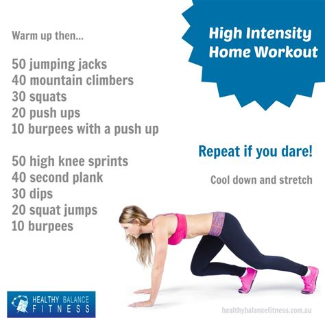 try this high intensity workout at home to burn the