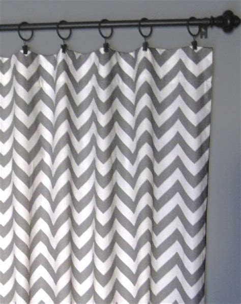 Grey Chevron Curtains 84 Quot Grey Zig Zag Curtains Two Chevron From Designerpillowshop