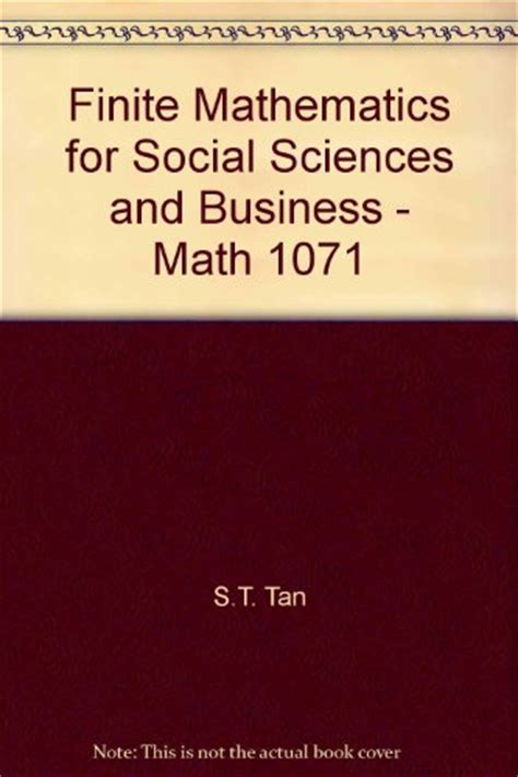finite mathematics for business economics sciences and social sciences 14th edition books finite mathematics for social sciences and business math