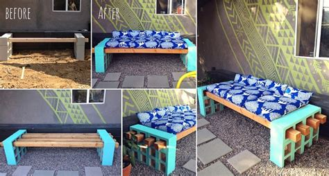 outdoor seating ideas cheap how to create your own cinder block bench easily www