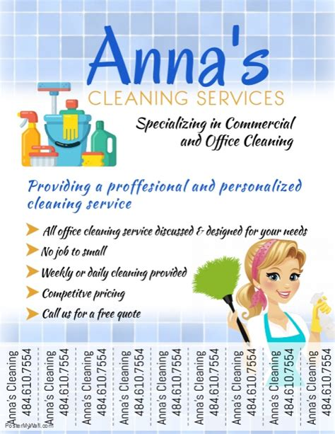 Cleaning Service Template Postermywall Cleaning Company Flyer Template