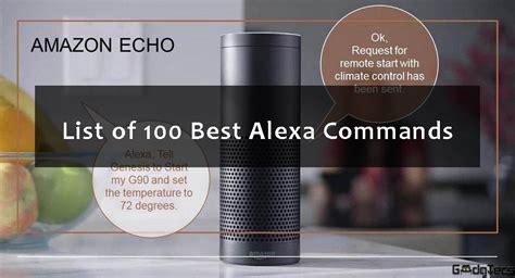 list    alexa commands gadgtecs
