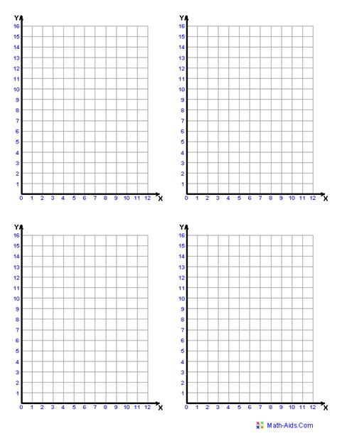 grid template graph paper printable math graph paper