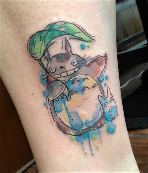watercolor tattoo studio 36 studio ghibli inspired anime tattoos page 26 of 36