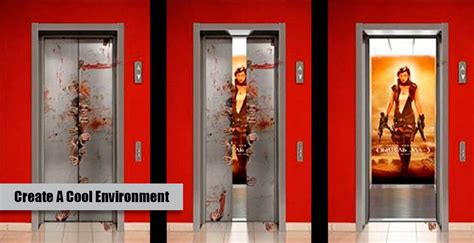 Mural Wall Decals creative elevator graphics monster image